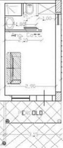 1 - monolocale planimetria casa in calabria sul mare